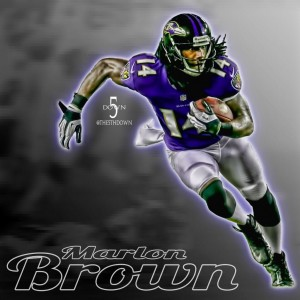 Marlon Brown has been placed on the injured reserve