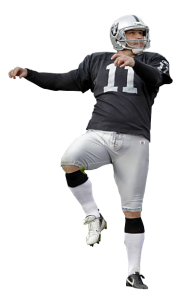 Sebastian Janikowski should not have a problem hitting a 33 yard extra point.