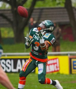 Tyler Davis the former Missouri Western cornerback has been dominating the German Football League.
