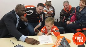 Browns sign 9 year old who stole the show