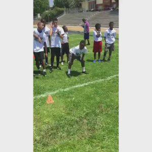 Little kid at Donald Penn's football camp had some insane juke moves