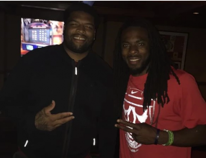 Richard Sherman and Trent Williams are apparently friends now