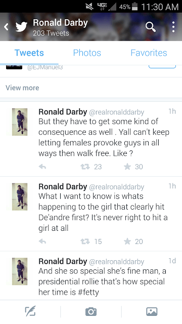 Is Ronald Darby right?