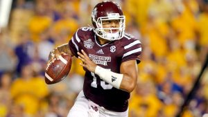 Dak Prescott is a very solid prospect from Mississippi State that can make NFL throws