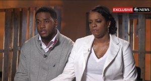 De'Andre Johnson and his mother addressed the media