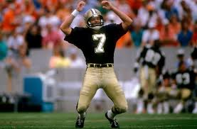 Saints kicker Morten Anderson is being awarded for the Saints Ring of Honor
