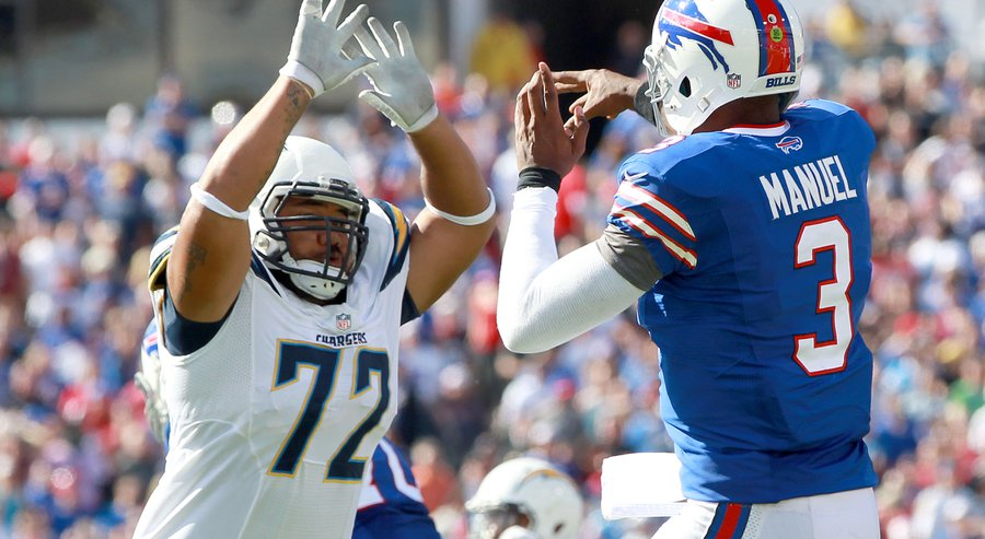 Chargers lost Tenny Palepoi for the season with a foot injury