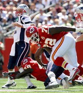 Bernard Pollard is one of the hardest hitters in the NFL, but he cannot stand Tom Brady