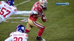 Kyle Williams suffered a right knee injury