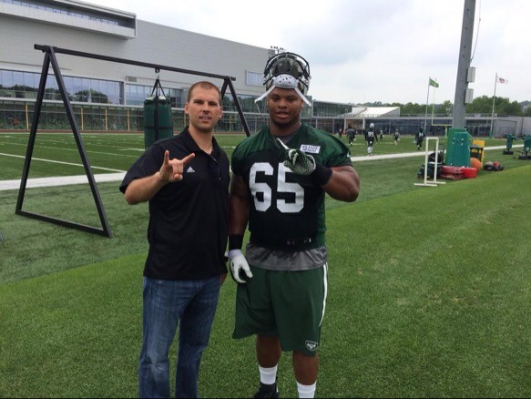 competitive price 82bad d4ae4 Jets have released small school defensive tackle Deon Simon