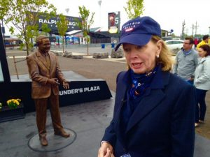 Buffalo Bills unveiled a statue in the front of their stadium showcasing their late owner