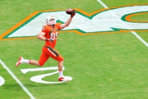 Beau Sandland landed at the  University of Miami before transferring to Montana State
