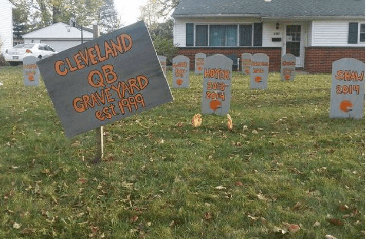 Browns fans are sick of not having a quarterback