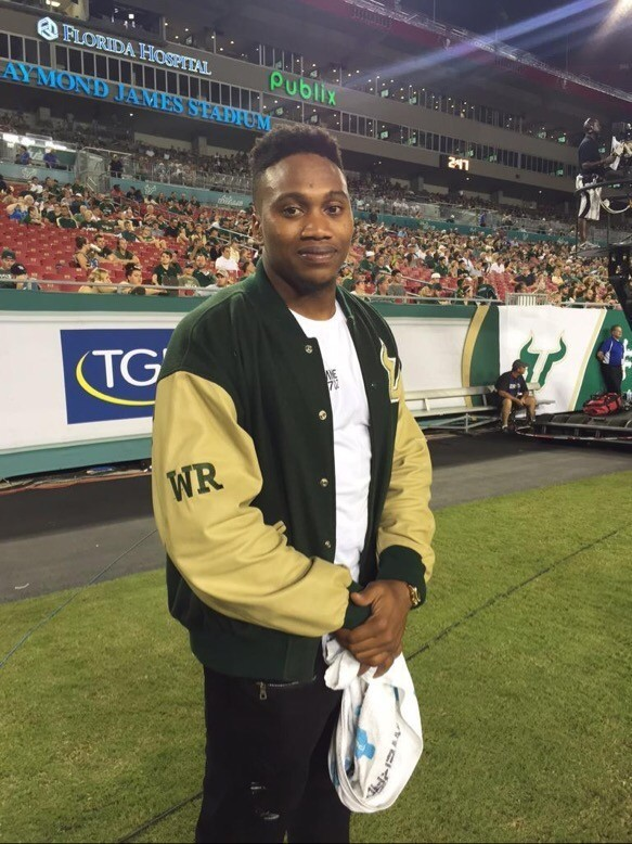 Former USF wide out Andre Davis is back in Tampa