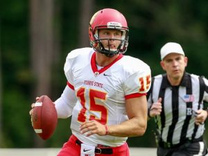 Ferris State QB Jason Vander Laan is a big physical quarterback with great arm strength