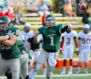 Jacksonville University quarterback Kade Bell hopes to follow in the footsteps of his Father who had a successful NFL journey