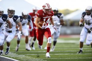 Sacred Heart wide receiver Tyler Dube has put up ridiculous numbers and is catching the eye of several NFL scouts