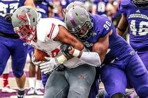 Central Arkansas defensive end Jonathan Woodard is a big and physical pass rusher