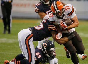 Former Browns wide out Josh Lenz is working out for the Texans today