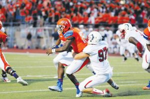 CSU Pueblo defensive end Morgan Fox is a sack master.  He is dominating the D2 level right now