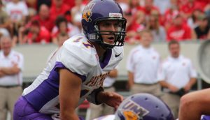 UNI QB Sawyer Kollmorgen can make all the NFL throws, he is a good looking quarterback