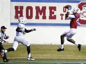 Temarrick Hemingway of South Carolina State could be the best small school tight end in the upcoming draft