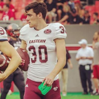 Eastern Kentucky has a very strong legged kicker in Ben Deighton