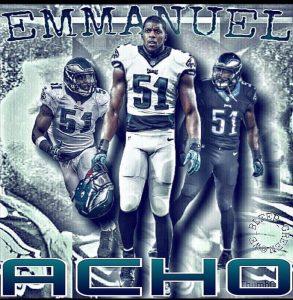 Eagles have re-signed linebacker Emmanuel Acho