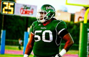 Mississippi Valley State offensive lineman Sean Brown is a mauler in the run game