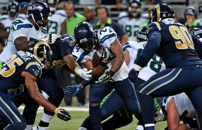 Seahawks running back stayed behind with his friend