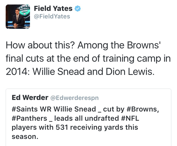 Ouch Browns released both Willie Snead and Dion Lewis