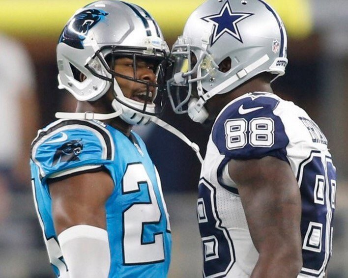 Cowboys wide out Dez Bryant was owned by Josh Norman yesterday