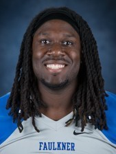 Faulkner tight end Josh Gross is a big boy with soft hands