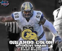 Big Orlando Colon is a dog on the interior line of Wingate