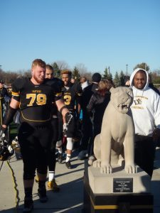 Ohio Dominican offensive lineman Ben Copher is a mauler in between the lines. He is a good blocker in both pass and run offense