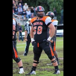 Billy Munker is a very agile offensive lineman that can play all five spots on a line. Teams will love that