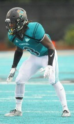 Kelvin Deveaux of Coastal Carolina is a solid defensive back from small Abbeville, SC