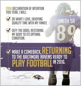 Steve Smith of the Ravens just announced that he is coming back next year