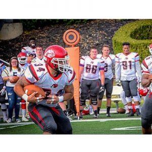 Steven Barroso of Albright College is a hard hitting linebacker.