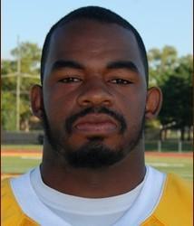 Rowan University linebacker Tyler Jenkins hits hard