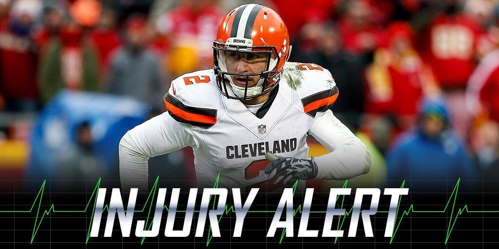 Browns claim Johnny Football has a concussion, but he was benched