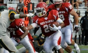 Denzel Nieves the running back of Montclair State University is an agile back with speed and power