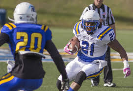 Rob Harden of Morehead State is a strong runner that is very close to Frank Gore when it comes to running style