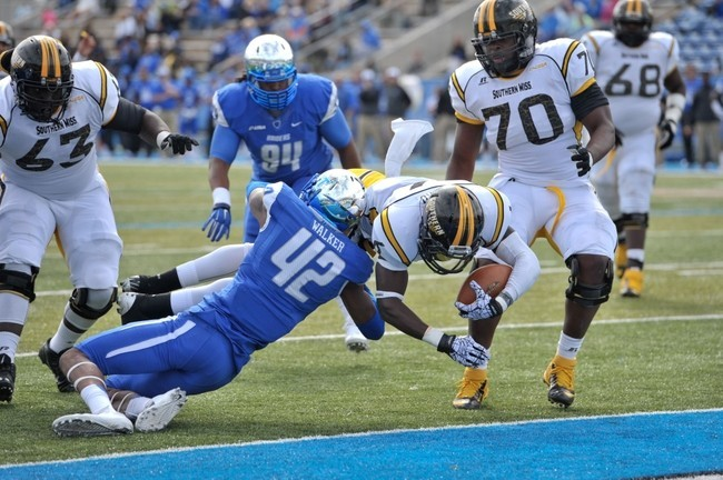 MTSU safety Xavier Walker is a hard hitting safety with NFL size