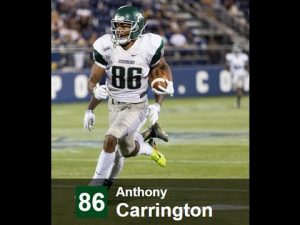 Anthony Carrington of Wagner College is a big play maker with great hands