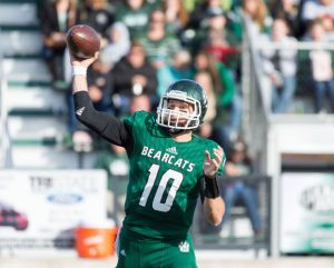 Northwest Missouri State University quarterback Brady Bolles is a gunslinger.