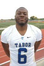 Tabor College defensive end Derrick Lawrence put up some pretty amazing stats his Senior year