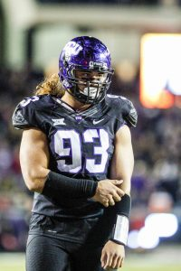 TCU pass rusher Mike Tuaua is an animal off the edge. NFL teams love his pursuit and motor