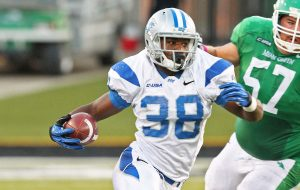 Middle Tennessee State University linebacker T.T. Barber is a stud mike backer