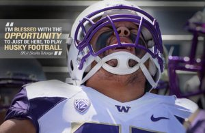 Washington defensive tackle Siosifa Tufunga is a big boy with a mean streak